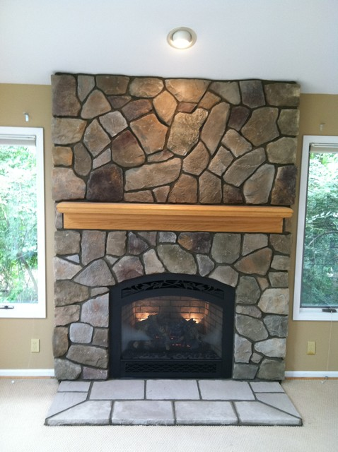 Boral cultured stone dressed fieldstone traditional for Fieldstone fireplace