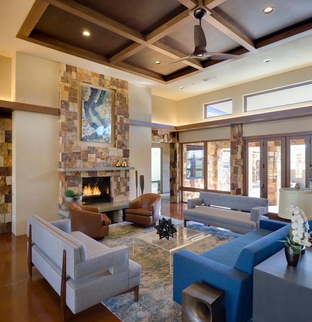 extraordinary houzz contemporary living room | Bosque Residence - Contemporary - Living Room ...