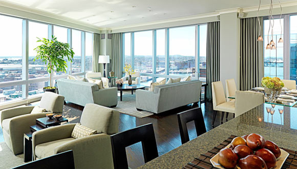 Boston Luxury Condominium contemporary living room