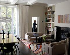 Boston Town House modern-living-room