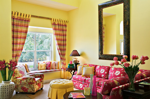 What is the name of the yellow wall color and trim color name? Where ...