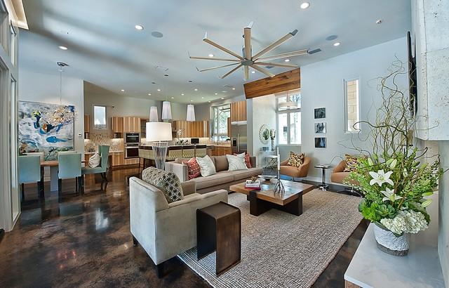Bowman, Greenbelt Homes, Austin TX contemporary-living-room