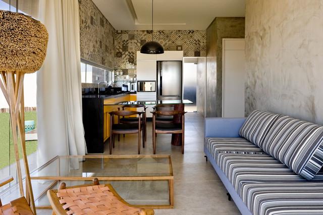 Box House by 1:1 arquitetura:design modern-living-room
