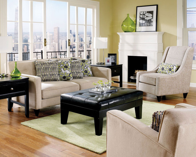 Bradford Mocha Carlyle Alpine traditional-living-room