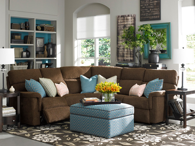 Brady L Shaped Sectional By Bassett Furniture Contemporary Living Room