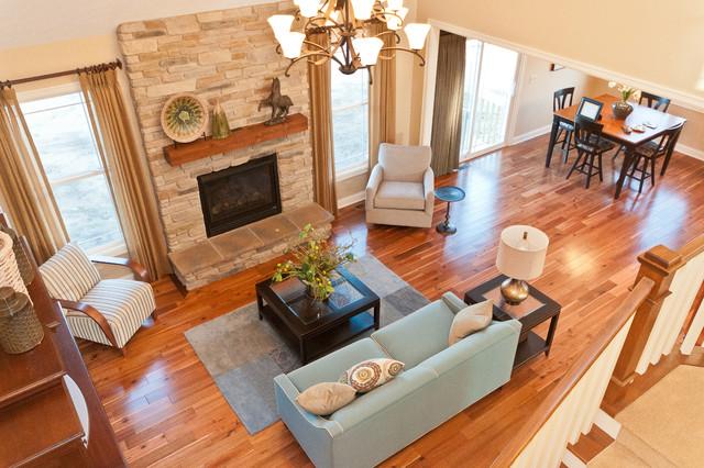 Brafchak New Home traditional-living-room