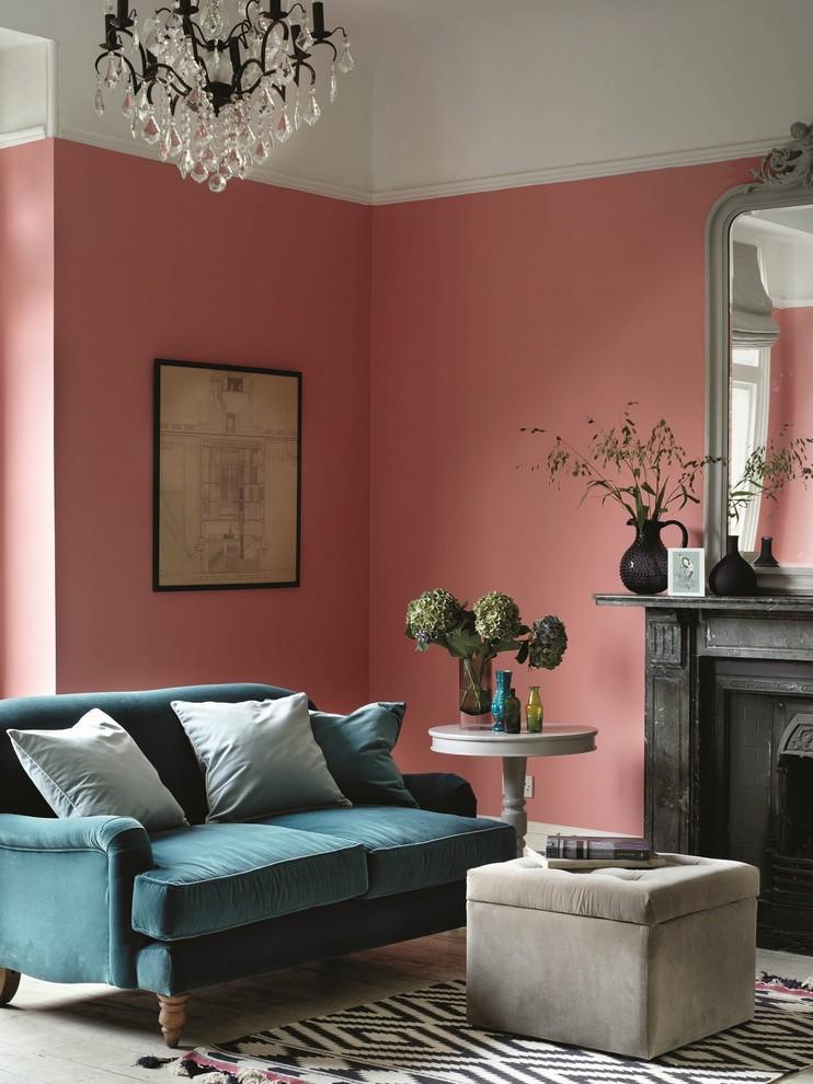 Living room - contemporary living room idea in Sussex