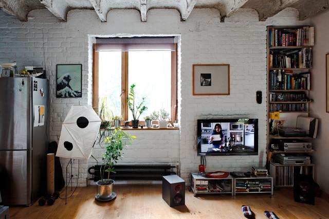 Bratislava Apartment industrial-living-room
