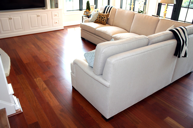 Brazilian Cherry 5 X 3 4 Solid Prefinishedcontemporary Living Room