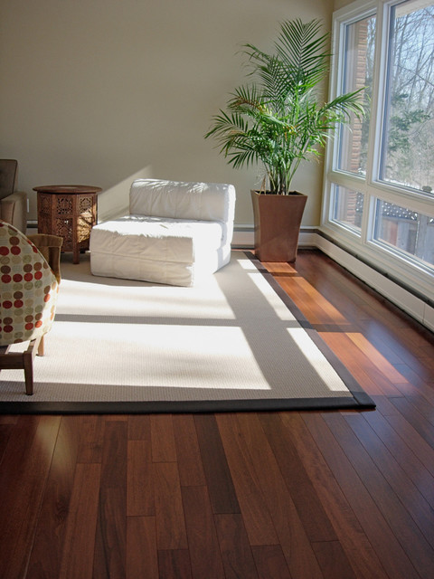 Brazilian Mahogany Flooring Installation Contemporary