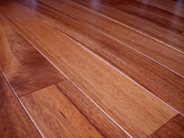 Awesome Brazilian Mahogany Hardwood Floor Installation Contemporary Living Room
