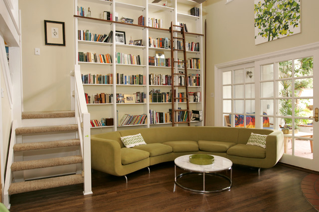 Fantastic Brentwood Contemporary Library Remodel Contemporary Living Largest Home Design Picture Inspirations Pitcheantrous