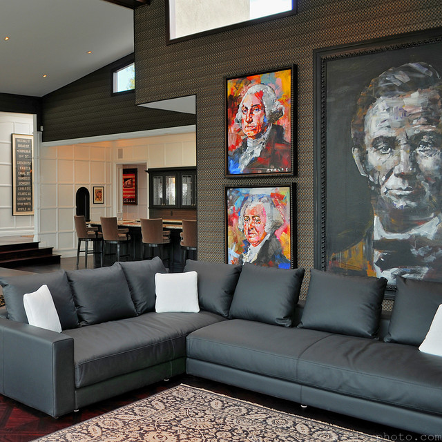 Brentwood Residence transitional-living-room