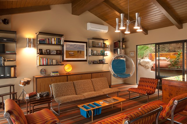 Brentwood - Sullivan Canyon midcentury-living-room