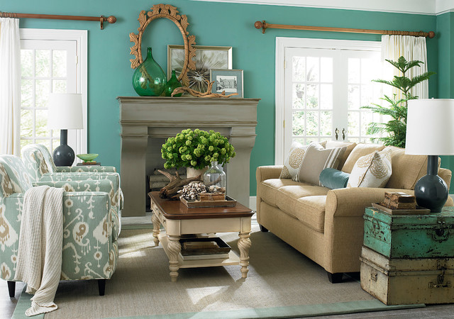 brewster sofa by bassett furniture traditional living