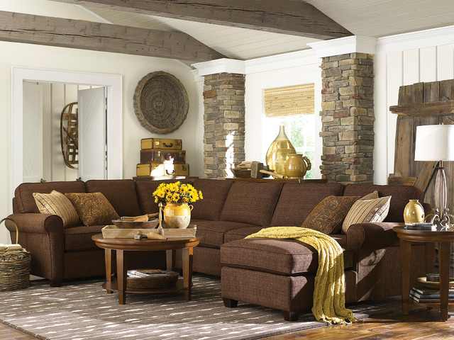 Brewster u shaped sectional by bassett furniture for U shaped living room