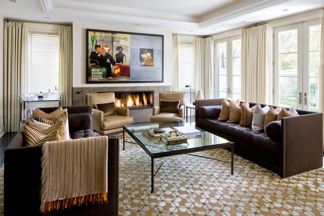 Brian Gluckstein Design Transitional Living Room