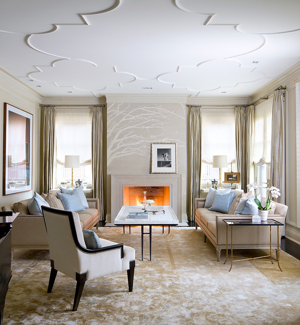 Brian gluckstein design transitional living room - Used living room furniture toronto ...