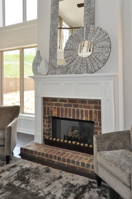Brick Fireplace Living Room Birmingham By Signature Homes