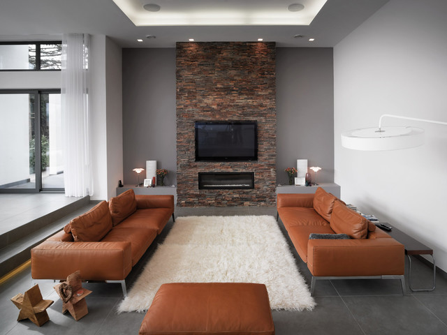 brick nepal living room other metro by porcelanosa usa