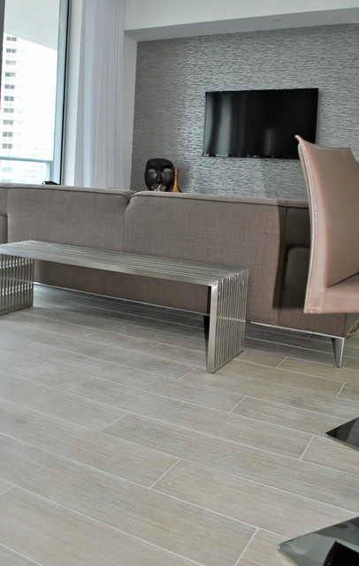 Brickell House 1 Contemporary Living Room Miami By