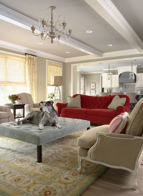 Glitzy-Glam meets Farmhouse-Chic contemporary living room