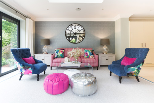 Bright & Bold Family Living Space