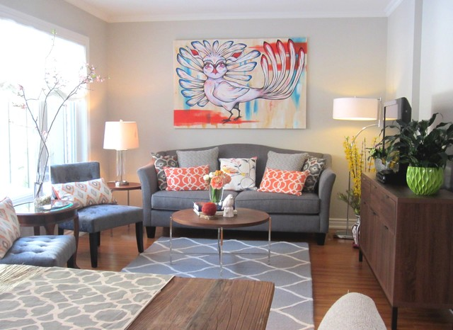 Bright and whimsical eclectic living room toronto for Whimsical living room