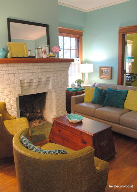 bright colors for a historic bungalow eclectic living