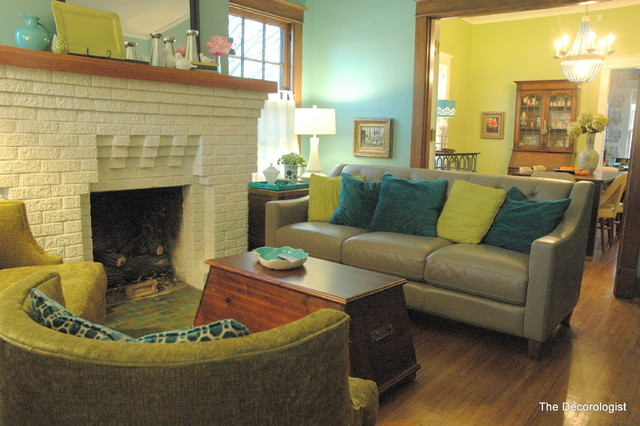 Bright Colors For A Historic Bungalow Eclectic Living Room
