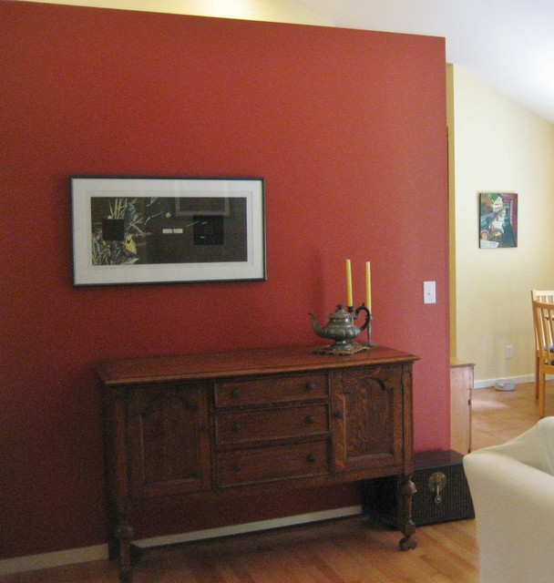 Bright New Color For A Poulsbo Washington Farmhouse Living Room