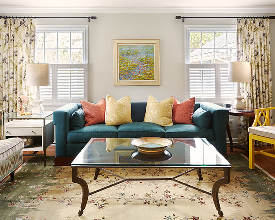 Grey Coral Yellow Teal Home Design Ideas Pictures