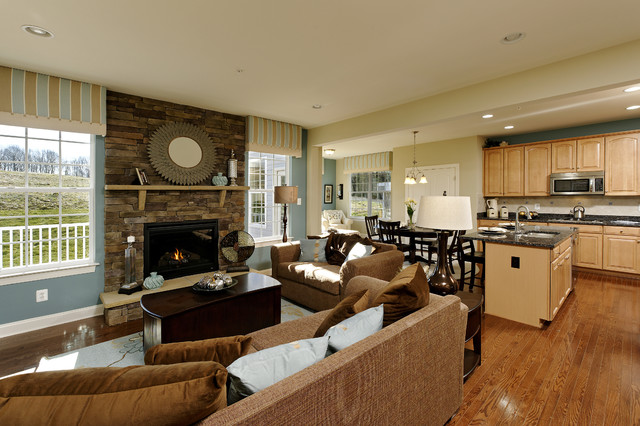 Brighton Place Jefferson And Chandler Models Contemporary Living Room Dc Metro By