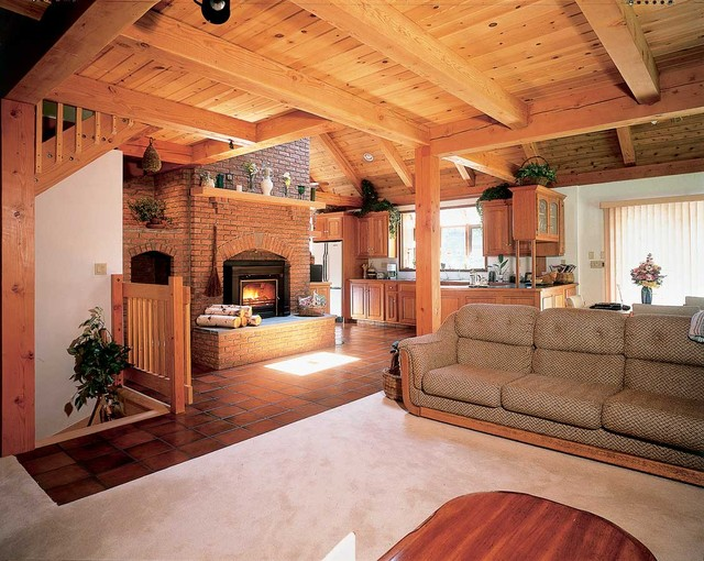 Traditional Living Space Photos: Bristol County Saltbox
