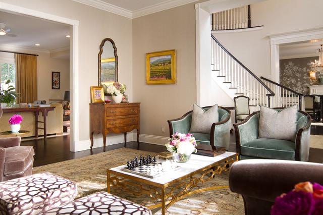 British Colonial in Pasadena - Traditional - Living Room - Los ...