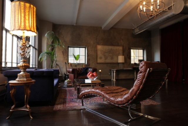 Broadway Hollywood Loft eclectic-living-room