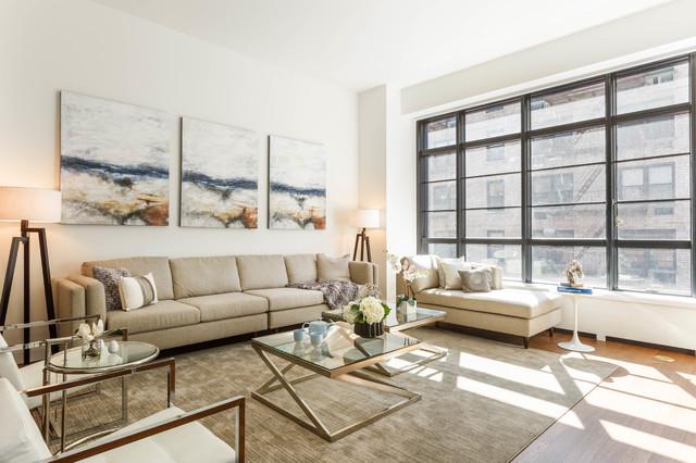 Brook Furniture Rental Charles St Transitional Living Room
