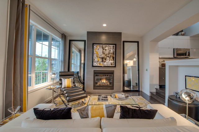 Brookfield Residential Cranston Belvedere Contemporary Living Room Calgary By