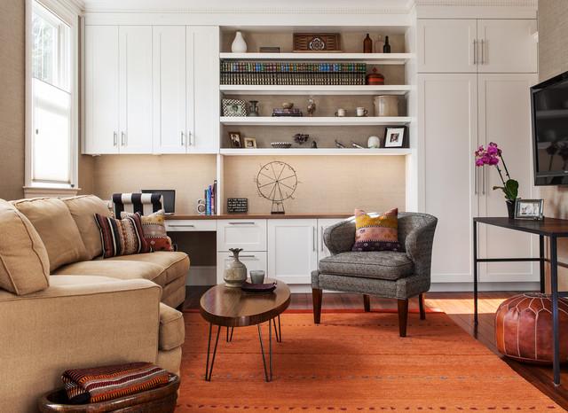 Brookline Townhouse contemporary-living-room