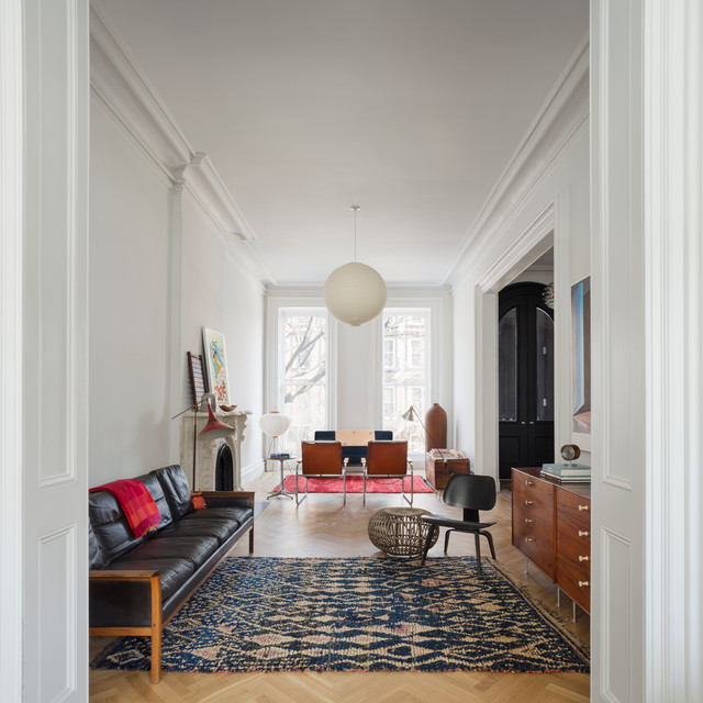 Brooklyn Brownstone Scandinavian Living Room New York - Living room furniture brooklyn
