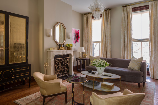 Brooklyn Brownstone Transitional Living Room New York By Marks Frantz Interior Design