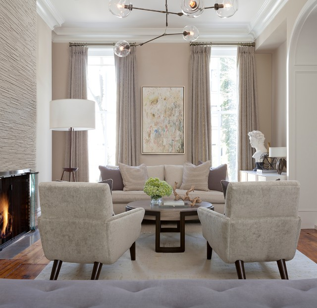 Transitional Living Room Design Ideas: Brooklyn Brownstone
