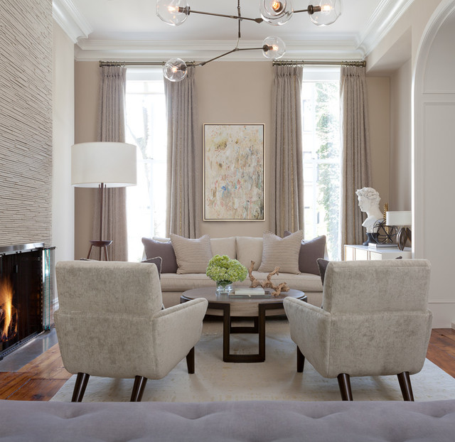 Brooklyn brownstone transitional living room new for Transitional living room decor