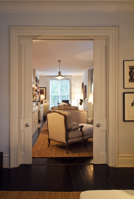 Brooklyn brownstone townhouse traditional living room for Living room brooklyn