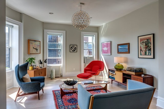 Brooklyn Heights Apartment - Midcentury - Living Room - New York ...