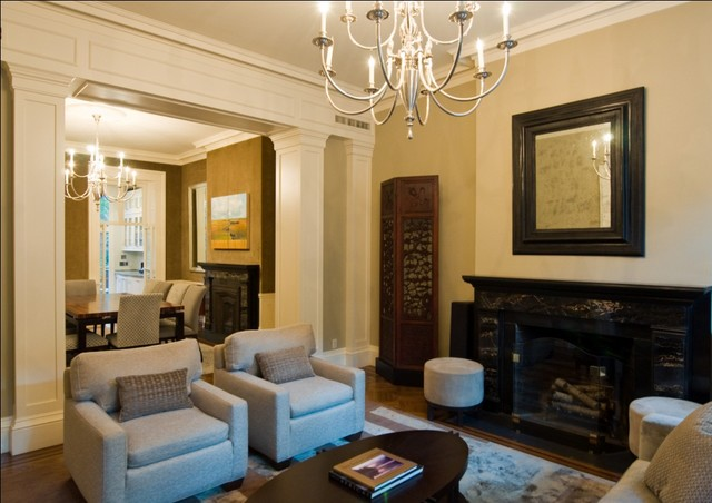 Brooklyn heights brownstone transitional living room for Living room brooklyn