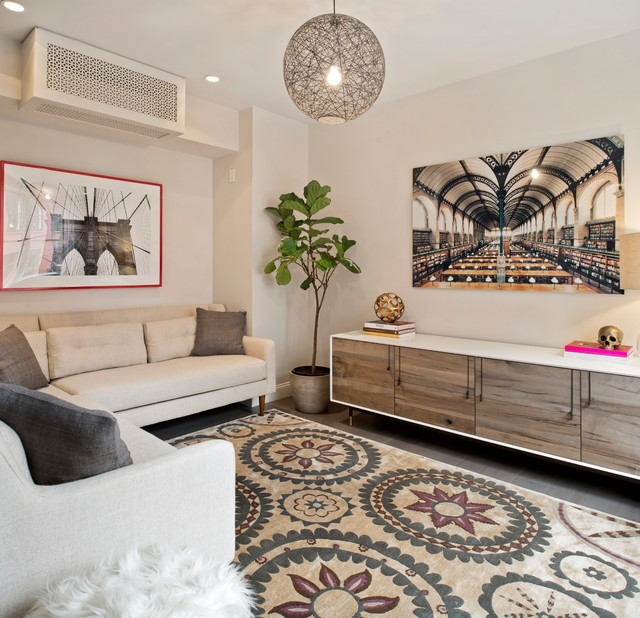 Trendy gray floor living room photo in San Francisco with no fireplace and no tv