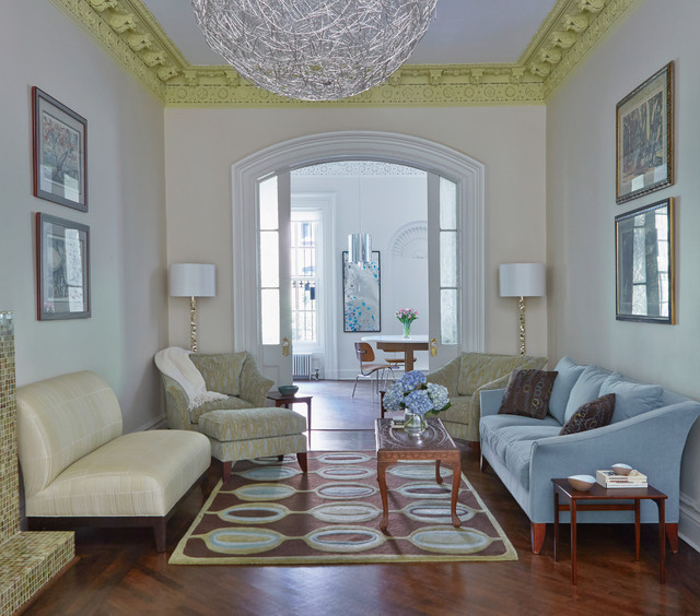 Brooklyn ny brownstone transitional living room new for New york brownstone interior design