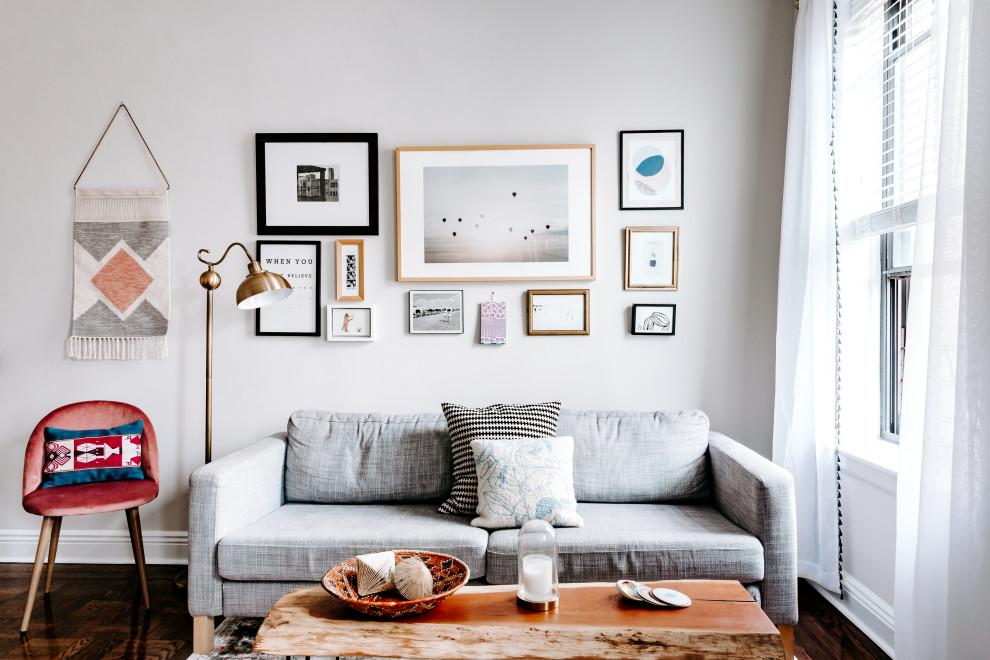 Inspiration for a scandinavian living room remodel in New York