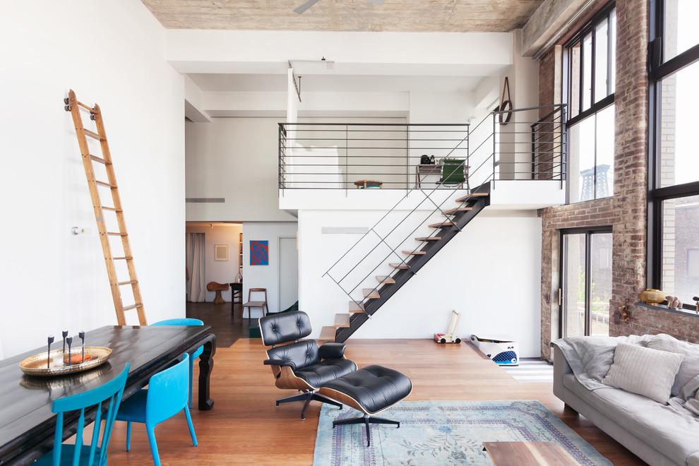 Brooklyn, NY: Williamsburg Loft - Industrial - Living Room ...